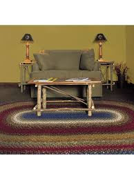 Log Cabin Furniture Log Cabin Step Cotton Braided Rug Cottage Home
