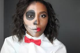 half face halloween makeup ideas patty u0027s kloset easy halloween makeup half glam half skull tutorial