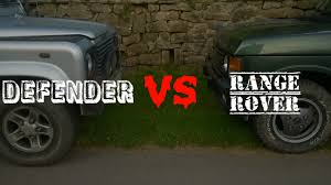 land rover vintage defender defender 90 u0027 vs range rover classic land rover youtube