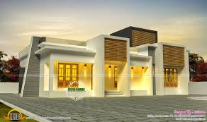 kerala home design flat roof elevation house elevation designs in