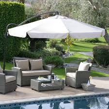 Patio Wicker Furniture - decorating awesome white garden treasures offset umbrella with