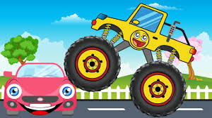 monster truck kids video happy monster truck video for children kids video youtube