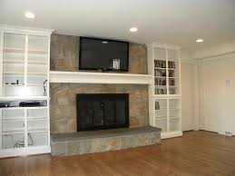 Built In Tv Bookcase Finished Basements Elias Construction Quality Remodeling