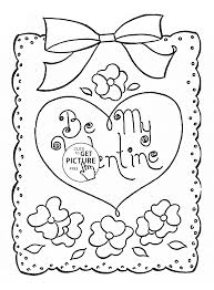 be my valentine coloring page for kids for girls coloring pages
