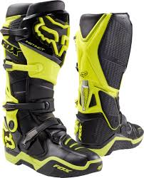 661 motocross boots fox 2017 fox instinct boots black u0026 yellow from manchester xtreme