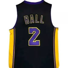new lonzo ball hollywood nights black los angeles lakers jersey