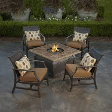 Patio Table With Firepit Awesome Outdoor Table With Pit In Center Designing A Patio