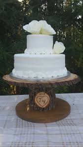 tree stump cake stand wood cupcake stand personalized cake stand log cake stand