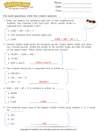 numbers in expanded form express numbers in expanded form worksheet turtle diary
