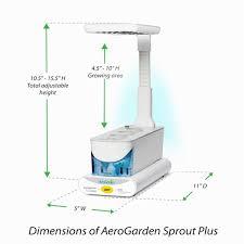 garden u0026 landscaping aero garden sprout plus white led kitchen