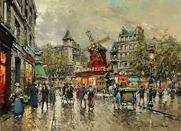 paint places artist antoine blanchard location le moulin rouge place blanche a