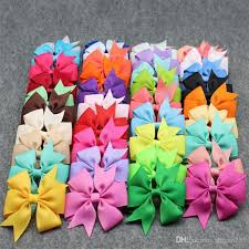 the ribbon boutique wholesale 5 5 inch grosgrain ribbon boutique large solid bows with clip for
