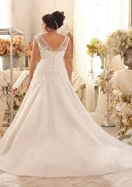 plus size wedding dress lace appliques on net style 3151 morilee