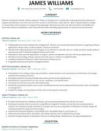 software engineer resume software engineer resume sle resumelift