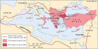 Byzantine Ottoman Map Of The Byzantine Empire Cc Cycle 1 Week 11 Pinterest