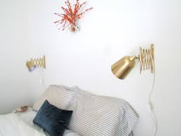diy gilded accordion sconce francois et moi