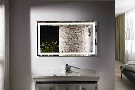 bathroom makeup vanity table with lighted mirror with lighted