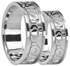 anam cara symbol silver my soul mate claddagh band ring set