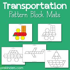 pattern blocks math activities transportation pattern block mats pattern blocks transportation