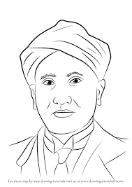 learn how to draw cv raman other people step by step drawing
