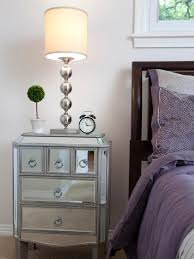 furniture ikea side table glass bedside table mirrored nightstand