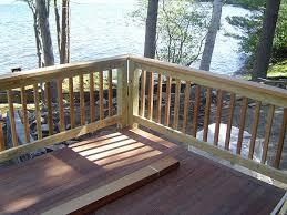 treated deck railing ideas deck design and ideas