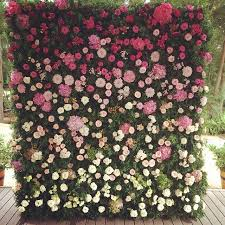 wedding backdrop flower wall trend for weddings this summer 2015 the flower wall