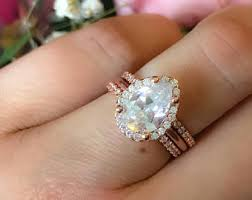 Pear Shaped Wedding Ring by Pear Engagement Ring Etsy