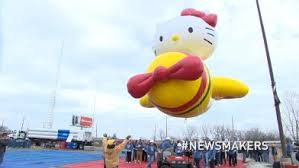 balloons are blown up for macy s thanksgiving day parade