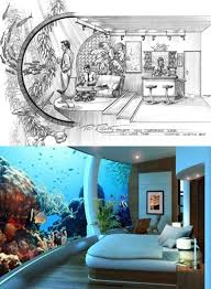 underwater hotel room aquatic architectural concept design by phil