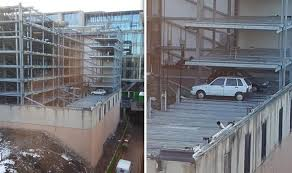 two cars trapped for 15 years in edinburgh u0027s u0027car park of the