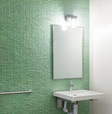 glass tile bathroom at home interior designing