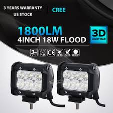 Led Work Light Bar by 2x 4inch 18w Cree Led Work Light Bar Flood Offroad Fog Lamp 4wd
