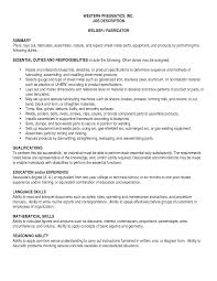 metal fabricator resume resume for your job application