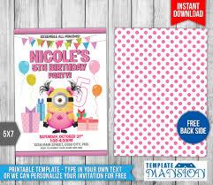 minion birthday invitation template 9 by templatemansion on