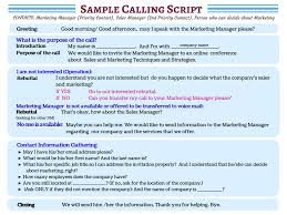 don u0027t waste a moment see sample cold calling scripts