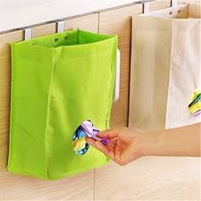 Hanging Organizer Kitchen Storage Bag Drawer Cabinet Door Back Garbage Bag Holder