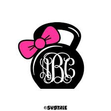 bow monogram kettlebell bow monogram svgtree