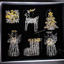 luxury glass crystal christmas decorations sets hanging tree