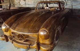 mercedes 300sl replica wooden 1955 mercedes 300sl gullwing car sells for