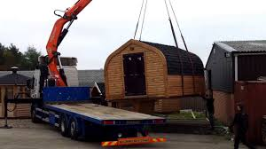 arched cabins the glamper arch cabin moving into place on the show site youtube