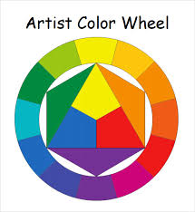 sample color wheel chart color wheel teaching chart set 30