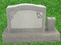 upright headstones single upright granite headstone bluhm monument works inc