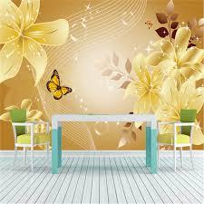 wallpaper dinding kamar vintage mewah gaya eropa bunga kupu kupu foto wallpaper dinding mural non
