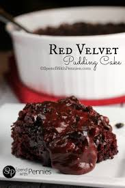 gooey red velvet pudding cake spend with pennies