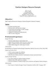 Professional Model Resume Cover Letter Fashion Designer Sample Resume Freelance Fashion