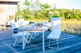 Modern Teak Outdoor Furniture by Dune Modern Teak Dining Table Couture Outdoor