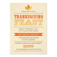 modern feast thanksgiving dinner invitation thanksgiving