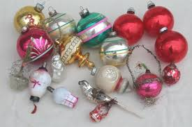 antique vintage tree ornaments lot glass balls