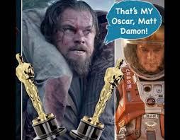 Leonardo Dicaprio Meme Oscar - that s my oscar matt damon az meme funny memes funny pictures